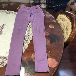 Fashion nova high waisted shimmer purple leggings